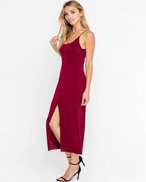 Lush Clothing - Sleeveless Cocktail Mini Dress in Burgundy