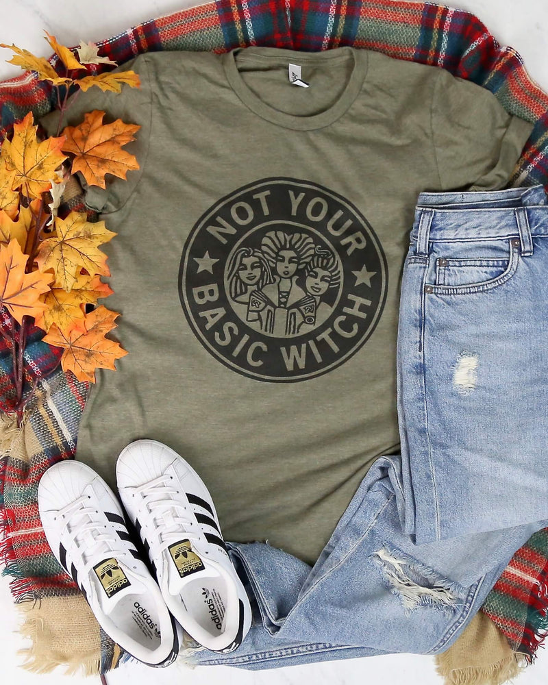 Distracted - Not Your Basic Witch Halloween Graphic Tee
