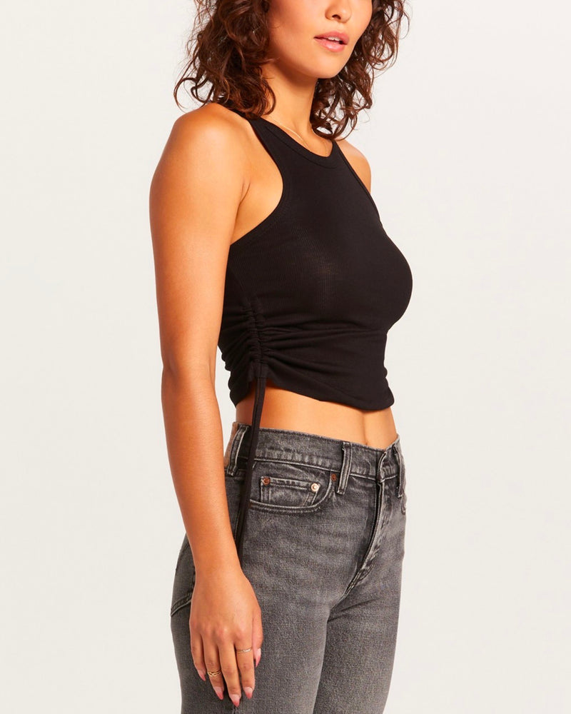 Rachel Ruched Drawstring Cropped Tank in More Colors
