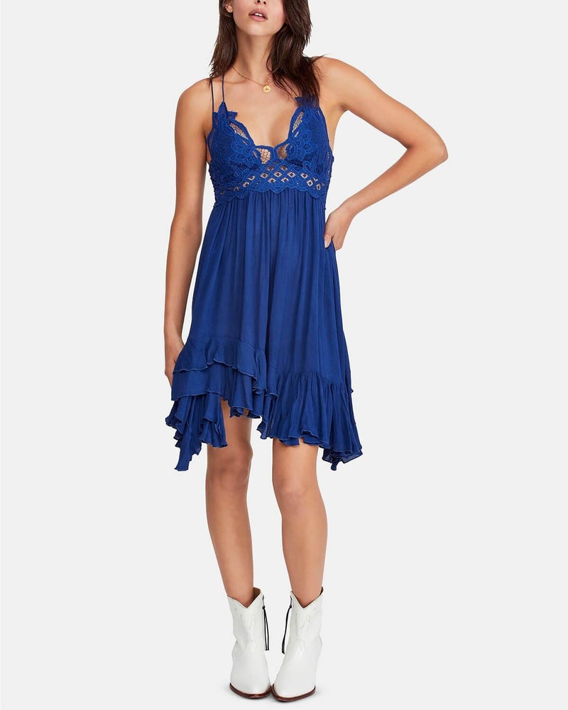 Free People - Adella Slip Dress blue