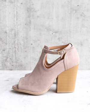 stella peep toe ankle bootie - more colors