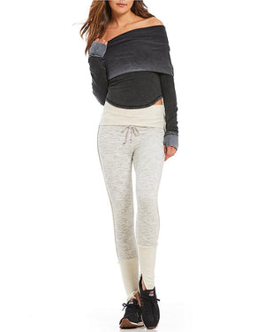 Free People - FP movement - underneath it all sports legging - grey combo