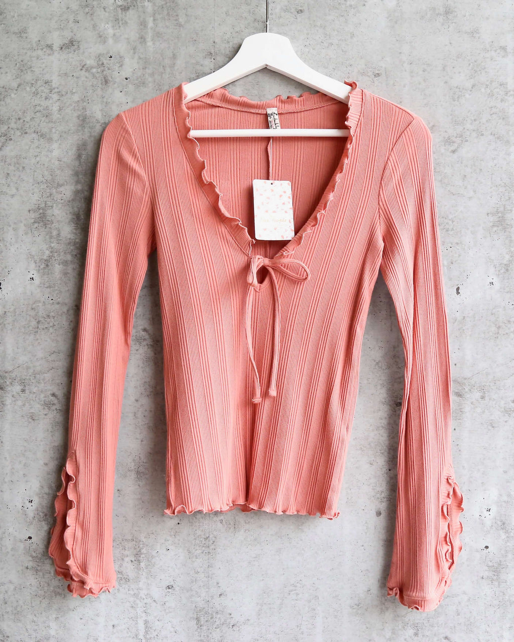Free People - Fall for You stretch-jersey Long Sleeve top - Pink Rose