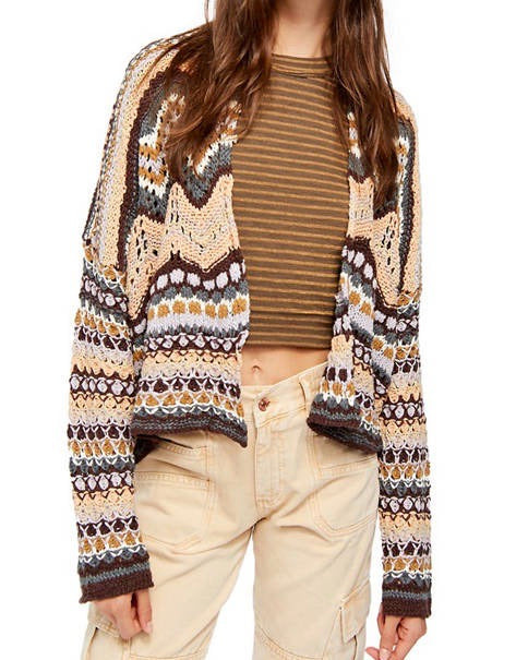 Free People - Feeling Nostalgic Cardi in Sands of Times Combo