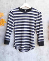 Free People - Good on You Stripe Long-Sleeve T-Shirt - Overcast/Grey