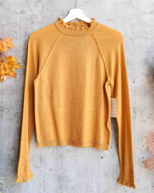 Free People - Needle & Thread High-neck merino-wool Pullover Sweater - Mustard