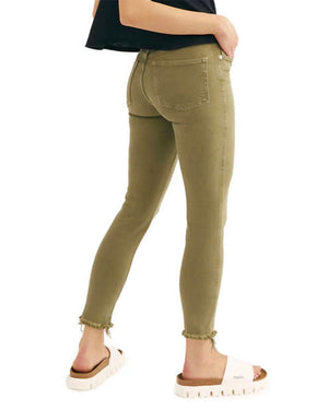Free People - Raw High Rise Jegging - Army Green