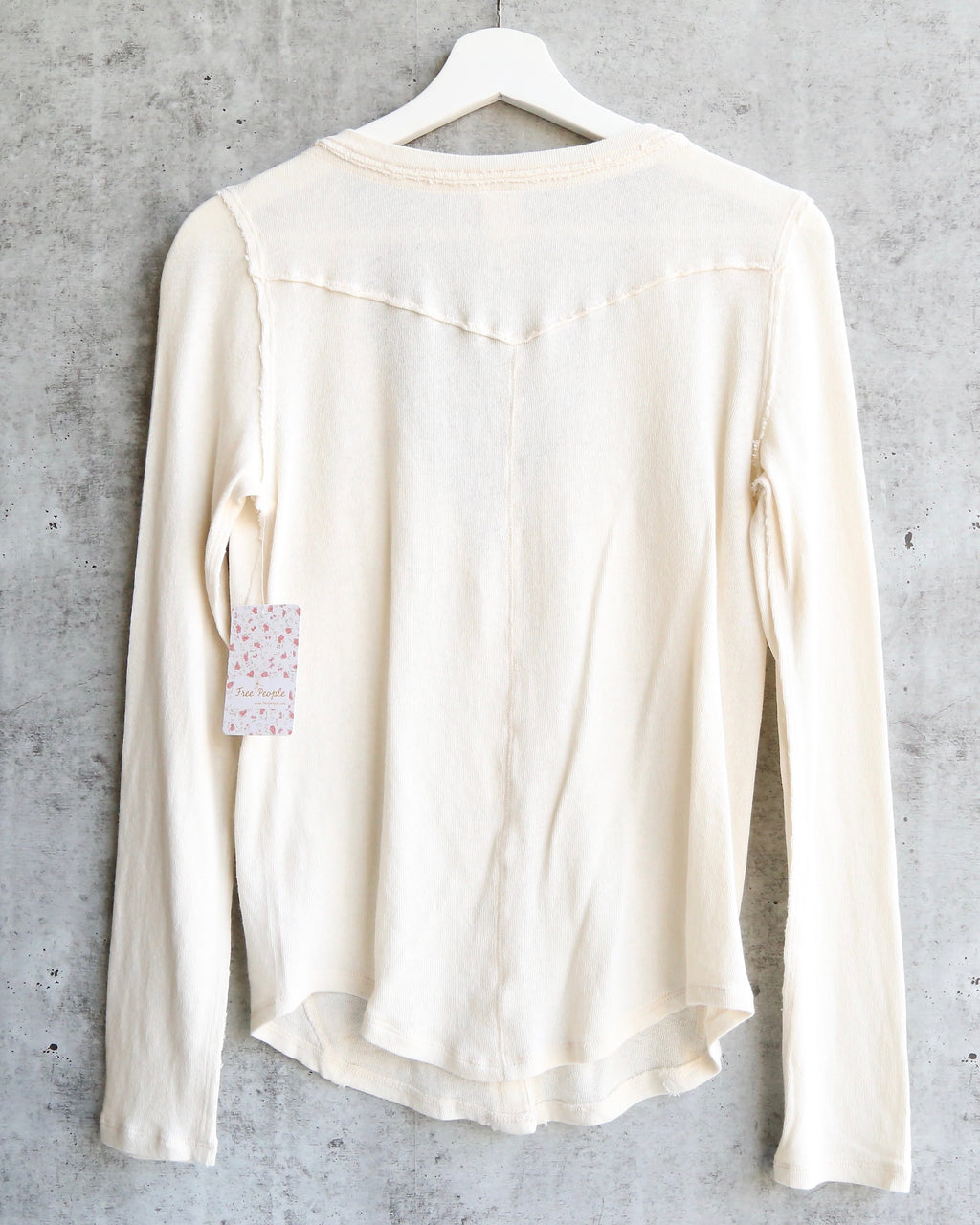 Free People - Starlight Henley Knit Button Down Top - Ivory