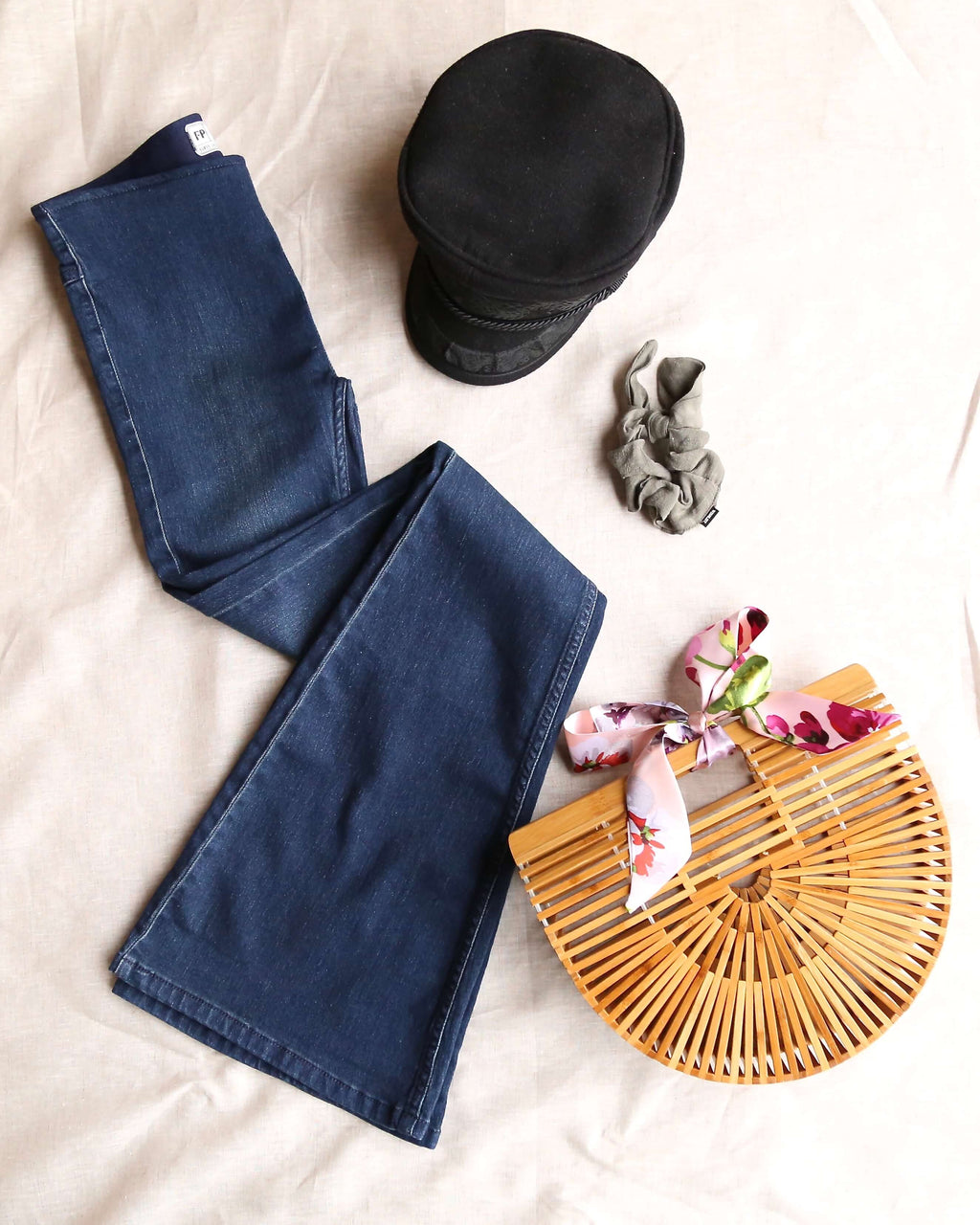 Free People Flare Penny Pull On Denim Jean in Rich Blue