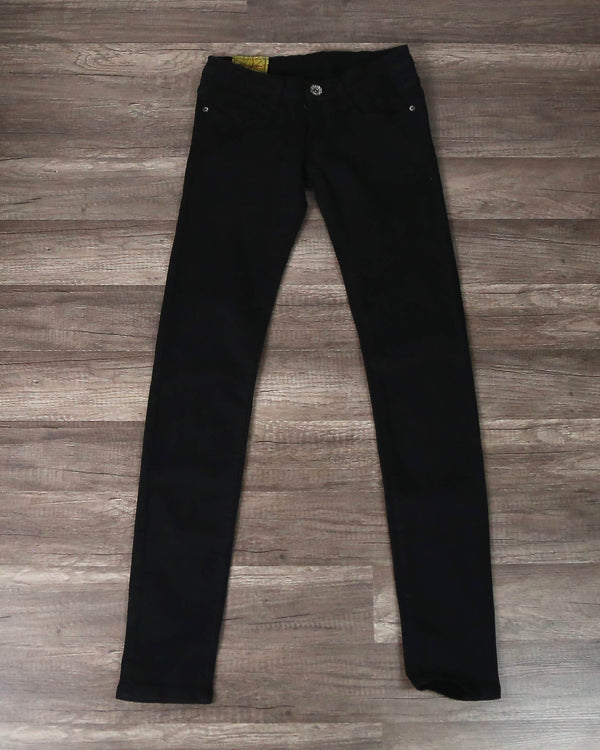 Final Sale - Machine Jeans - Low Rise Skinny Jeans - Black