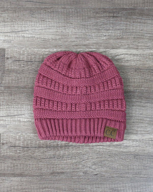 C.C Beanie Women's Thick Soft Knit Beanies Cap Hat