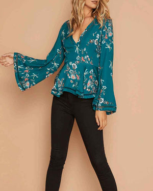 minkpink - secret garden plunge top - multi
