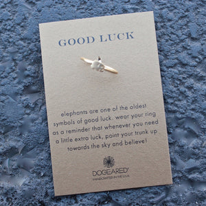 dogeared - good luck elephant ring - shophearts - 4