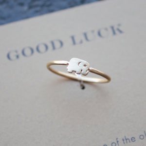 dogeared - good luck elephant ring - shophearts - 3