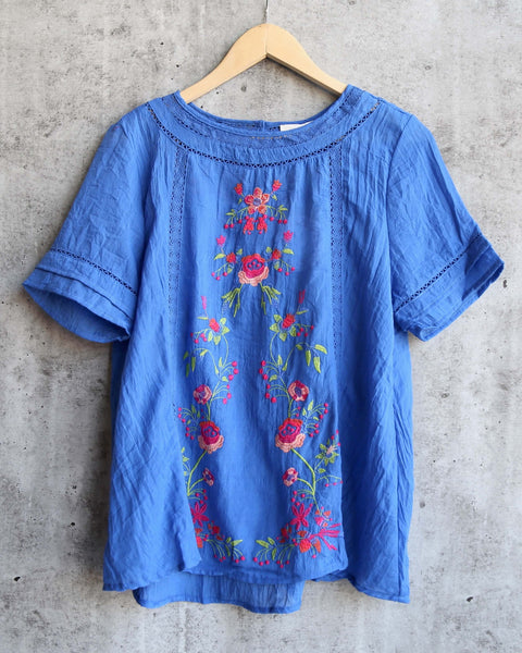 oversize tee - vintage blue acid wash - shophearts - 2