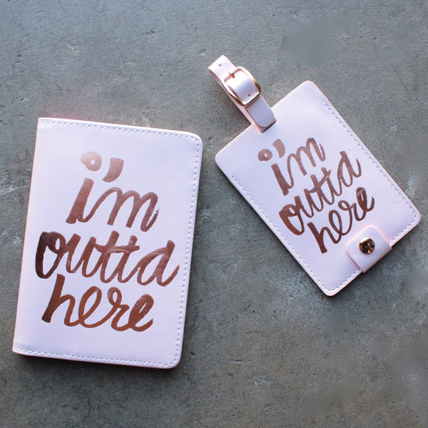 ban.do the getaway luggage tag - I'm Outta Here - shophearts