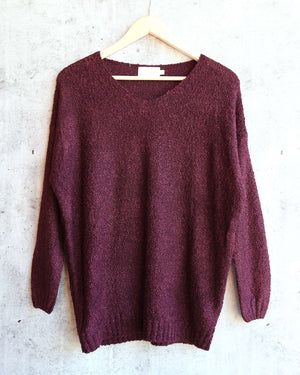 dreamers by debut - lightweight pullover - burgundy