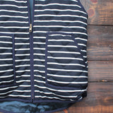 lightweight navy & white stripe quilted puffer vest - shophearts - 4