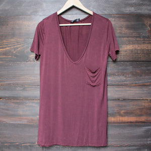 tease me oversize soft v neck tshirt (more colors) - shophearts - 5