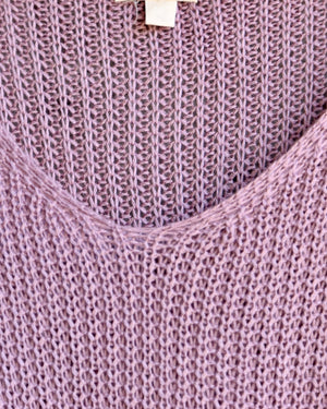 dreamers by debut - lightweight knot front pullover - lavender