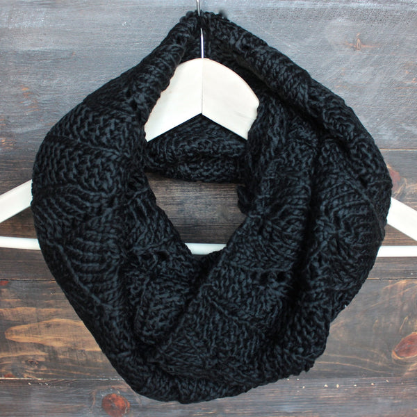 knit leaf pattern infinity scarf (more colors) - shophearts - 4