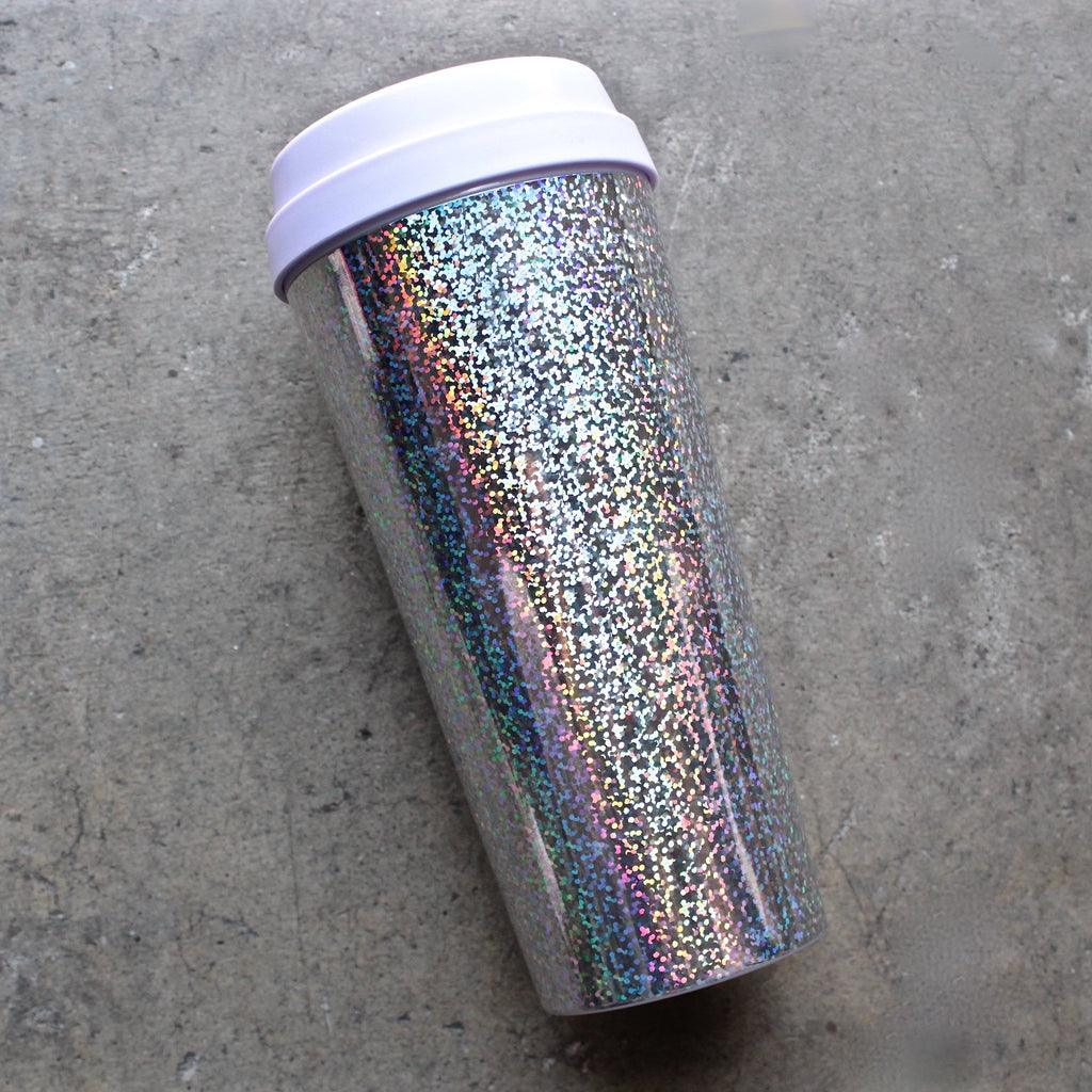 ban.do 'hot stuff' thermal travel mug holographic - shophearts - 2