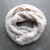 knit leaf pattern infinity scarf (more colors) - shophearts - 3
