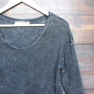 acid wash ski lodge cuff thermal top (more colors) - shophearts - 6