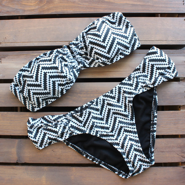 Tribal chevron bikini - black and white - shophearts - 1