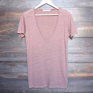 project social t - grace linen v neck tee - shophearts - 1