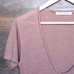 project social t - grace linen v neck tee - shophearts - 2