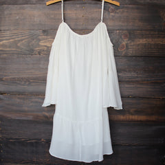 bohemian cold shoulder dress - white - shophearts - 2