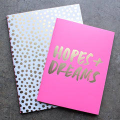 ban.do good ideas notebook set - petite party dot + hopes + dreams - shophearts - 1