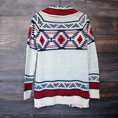 mod lightweight tribal cardigan aztec in rust - shophearts - 3