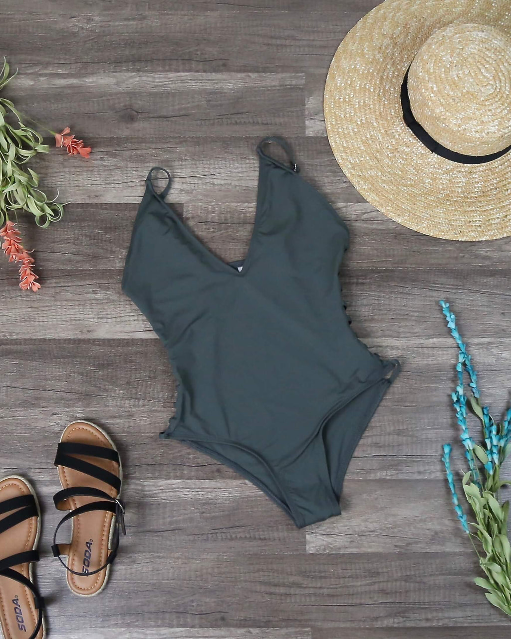 Dippin' Daisy's Caged Side Moderate Coverage One-Piece - more colors