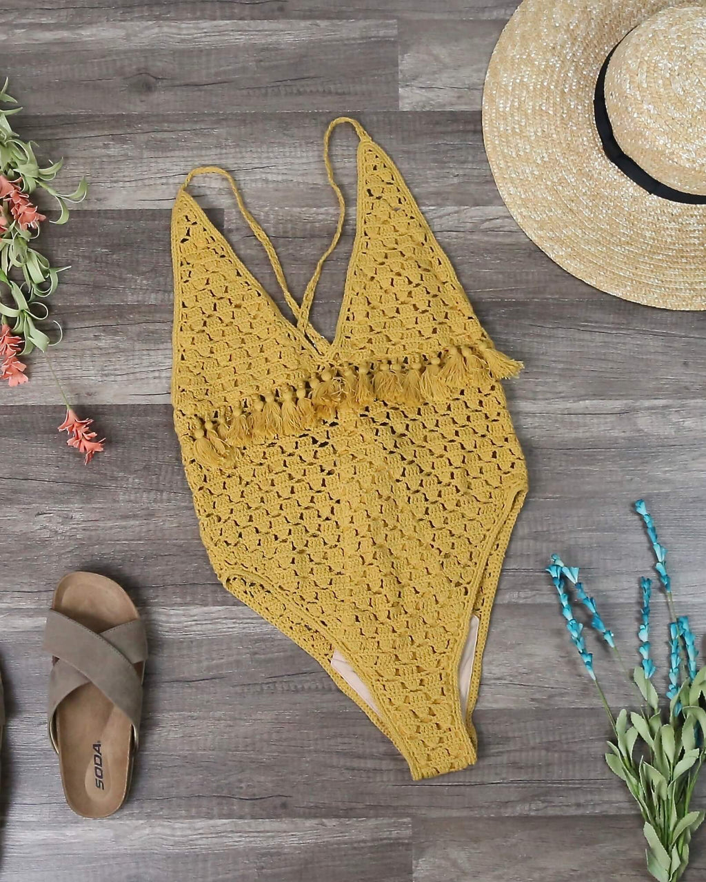 Final Sale - Somedays Lovin - Mystifying Crochet One Piece Swimsuit