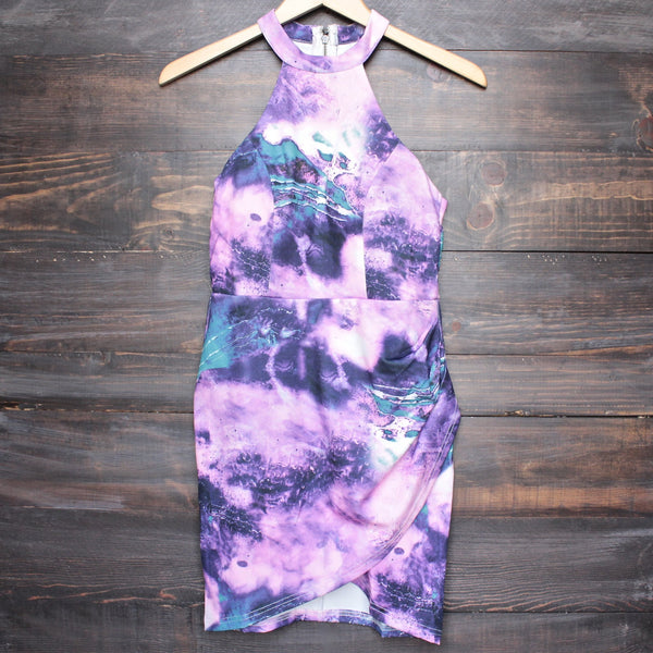 dahlia abstract print bodycon dress - shophearts - 1