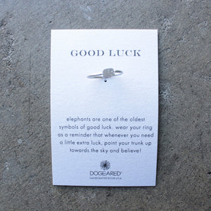 dogeared - good luck elephant ring - shophearts - 2