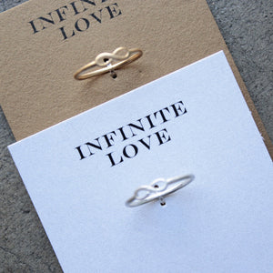 dogeared - infinite love infinity ring - gold or silver - shophearts - 3