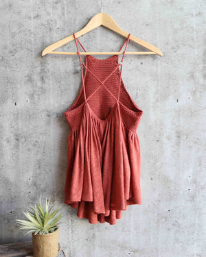 free people - road trip crochet tank - copper