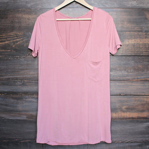 tease me oversize soft v neck tshirt (more colors) - shophearts - 9