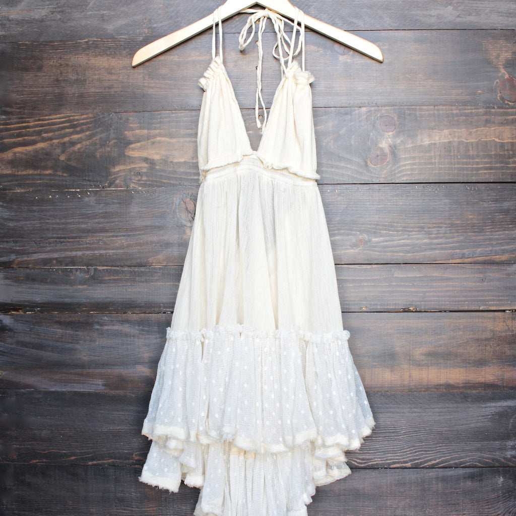 eternal grace crinkle gauze halter dress - shophearts - 1