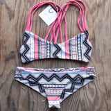 khongboon swimwear - centre reversible criss-cross full-cut handmade bikini - shophearts - 1