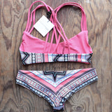 khongboon swimwear - centre reversible criss-cross full-cut handmade bikini - shophearts - 2