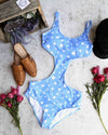 seeing stars - one piece bikini - blue