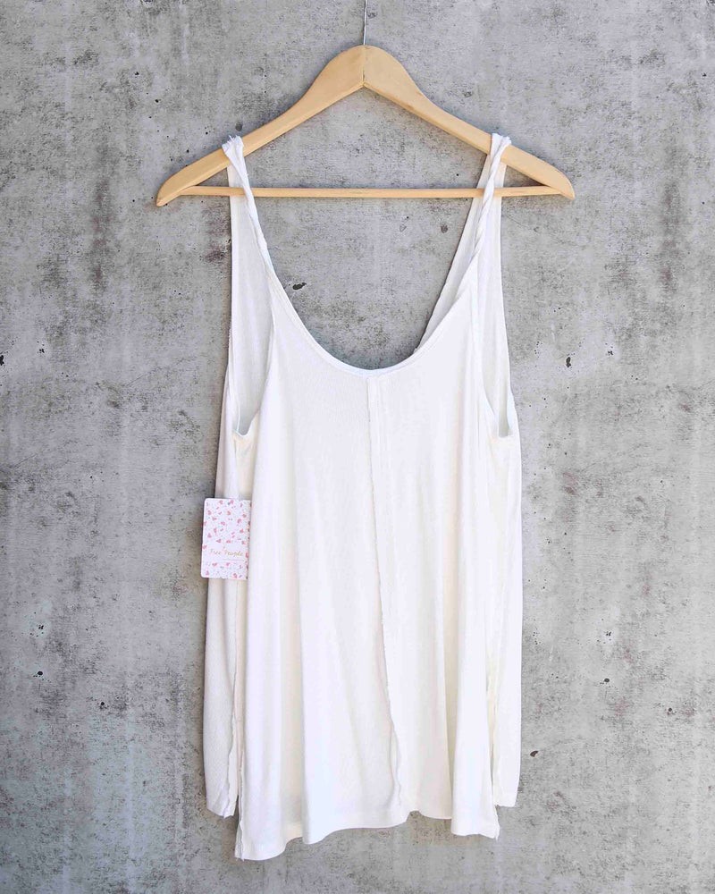 Free People - Scarlett Tank in Ivory