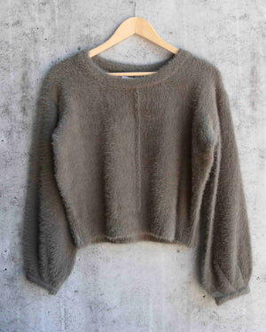 fuzzy cropped sweater - more colors