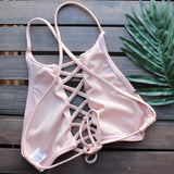 venice high neck crop bikini set in blush - shophearts - 4