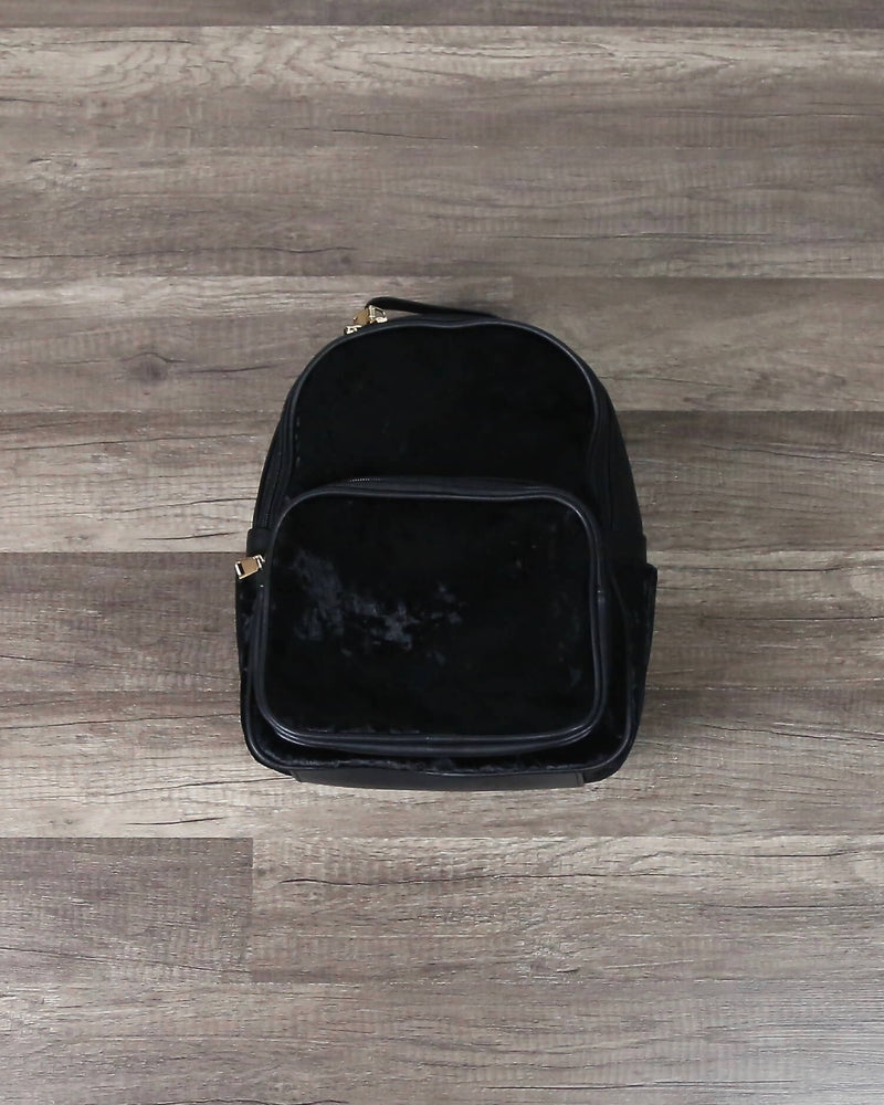FINAL SALE - Velvet Mini Backpacks in More Colors