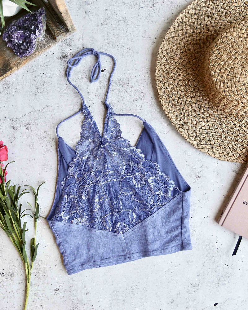 free people - Intimately FP The Century Brami Longline Bralette - chambray